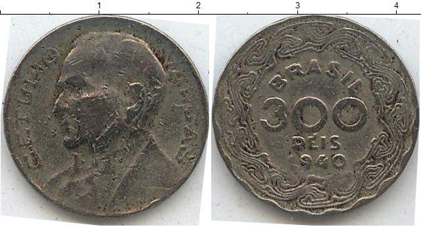 Каталог монет - Бразилия 300 рейс