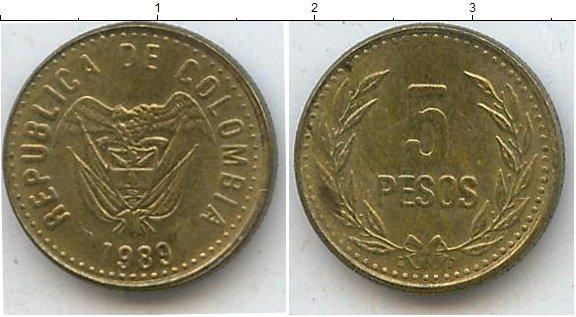 Каталог монет - Колумбия 5 песо