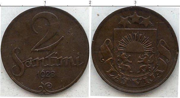 Каталог монет - Латвия 2 сен
