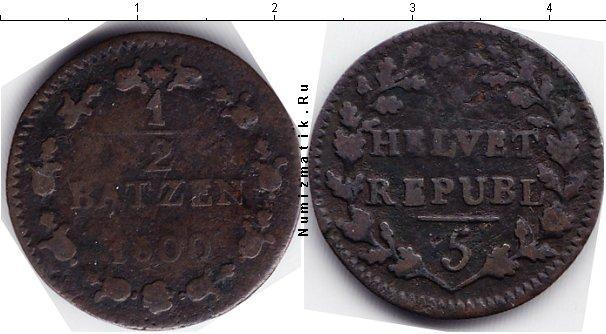 Каталог монет - Швейцария 1/2 батзена