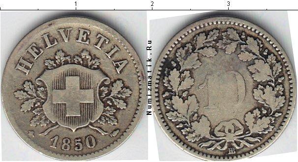 Каталог монет - Швейцария 10 рапп