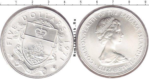 Каталог монет - Багамские острова 5 долларов