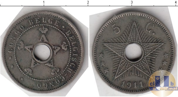 Каталог монет - Бельгийское Конго 5 сантим