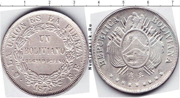 Каталог монет - Боливия 1 боливиано