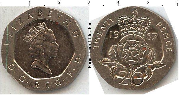 Каталог монет - Великобритания 20 пенсов