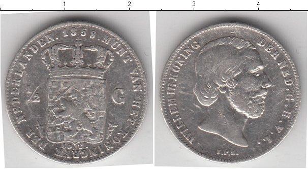 Каталог монет - Нидерланды 1/2 гульдена