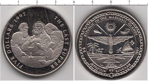 Каталог монет - Маршалловы острова 5 долларов