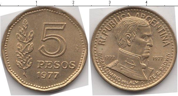 Каталог монет - Аргентина 5 песо