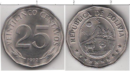 Каталог монет - Боливия 25 сентаво
