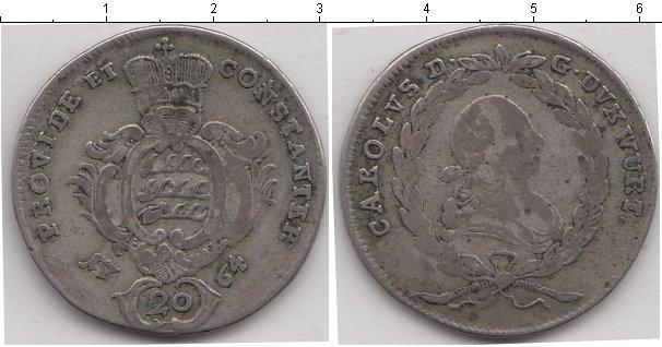 Каталог монет - Вюртемберг 20 крейцеров