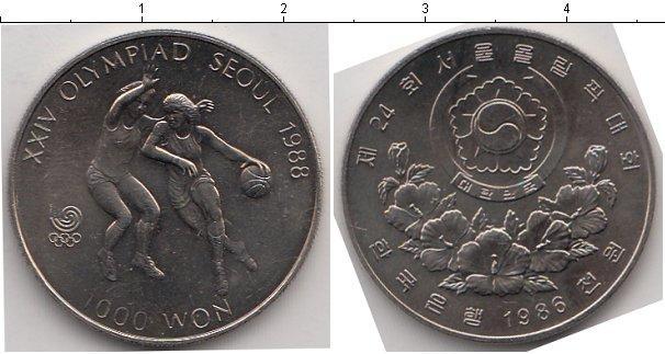Каталог монет - Южная Корея 1000 вон