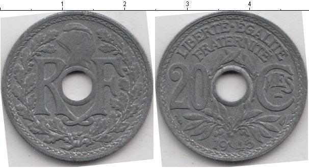 Каталог монет - Франция 20 сантим