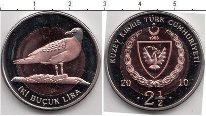 Каталог монет - Северный Кипр 2 1/2 лиры