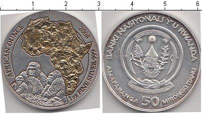 Каталог монет - Руанда 50 франков