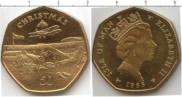 Каталог монет - Остров Мэн 50 центов
