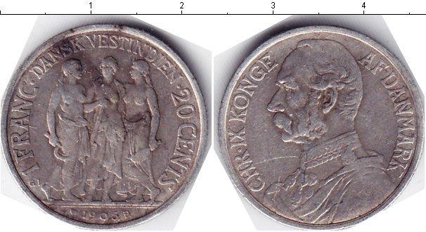 Каталог монет - Датская Вест-Индия 1 франк