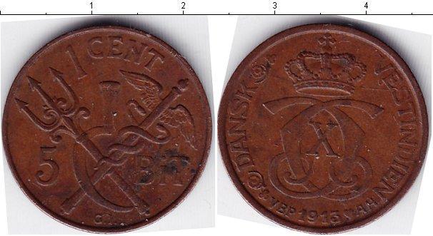 Каталог монет - Датская Вест-Индия 1 цент