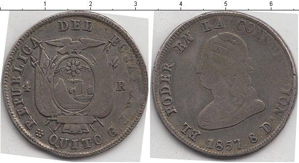 Каталог монет - Эквадор 4 реала