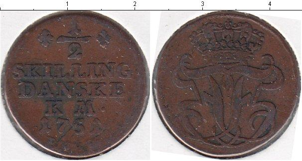 Каталог монет - Дания 1/2 скиллинга