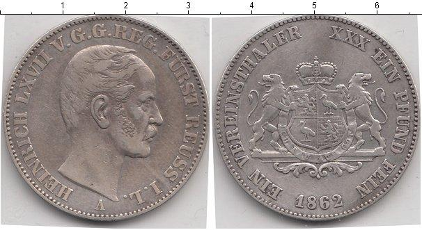 Каталог монет - Рейсс-Шляйц 1 талер