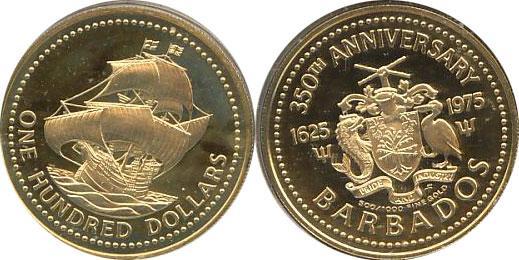 Каталог монет - Барбадос Первый выпуск монет в Барбадосе