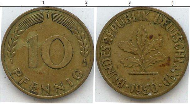 Каталог монет - ФРГ 10 пфеннигов