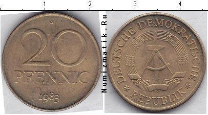 Каталог монет - ГДР 20 пфеннигов