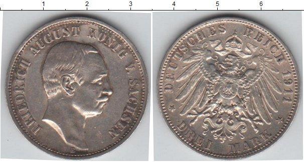 Каталог монет - Саксония 3 марки