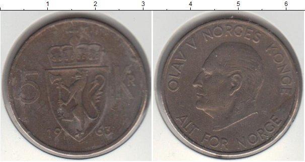 Каталог монет - Норвегия 5 крон