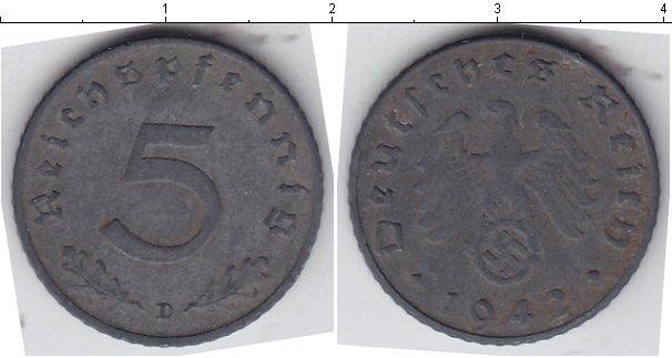 Каталог монет - Третий Рейх 5 пфеннигов