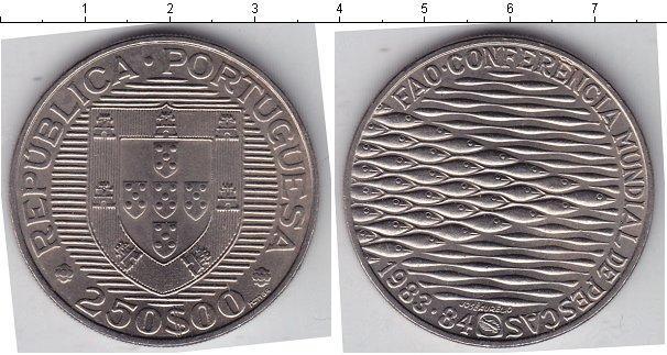 Каталог монет - Португалия 250 эскудо