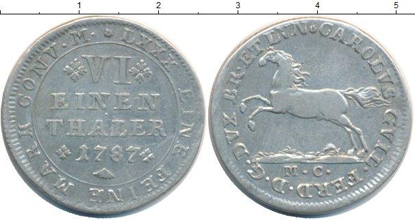 Каталог монет - Брауншвайг-Вольфенбюттель 1/6 талера