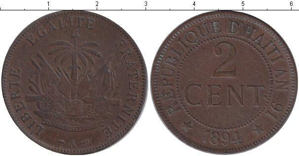Каталог монет - Гаити 2 сантима