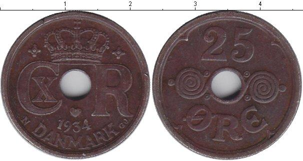 Каталог монет - Дания 25 эре