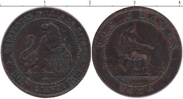 Каталог монет - Испания 2 сентаво