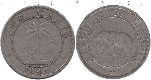 Каталог монет - Либерия 2 цента