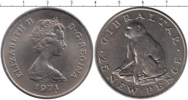 Каталог монет - Гибралтар 25 пенсов
