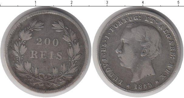 Каталог монет - Португалия 200 рейс