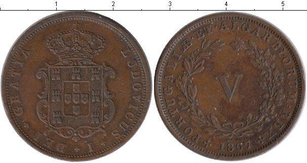 Каталог монет - Португалия 5 рейс