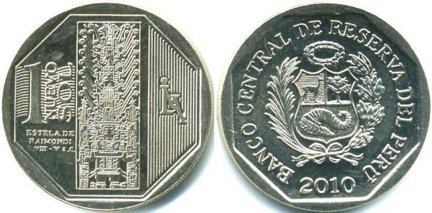 Каталог монет - Перу 1 нуэво соль