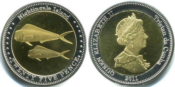 Каталог монет - Соловьиные острова 25 пенсов