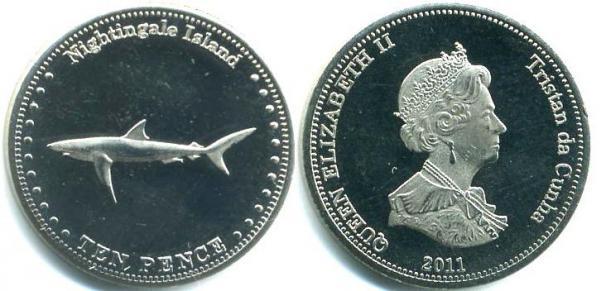 Каталог монет - Соловьиные острова 10 пенсов