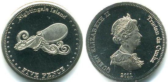 Каталог монет - Соловьиные острова 5 пенсов