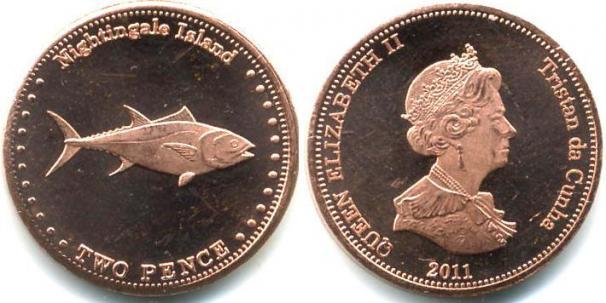 Каталог монет - Соловьиные острова 2 пенса