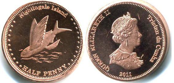 Каталог монет - Соловьиные острова 1/2 пенни