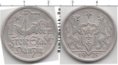 Каталог монет - Данциг 1 гульден