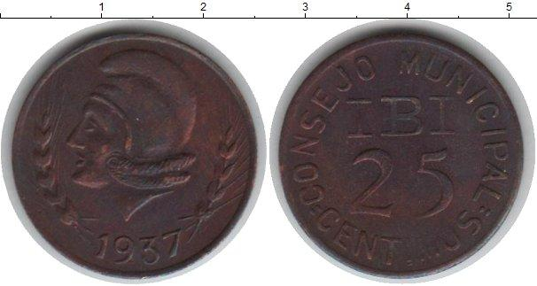 Каталог монет - Испания 25 сентим