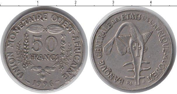 Каталог монет - Западная Африка 50 франков