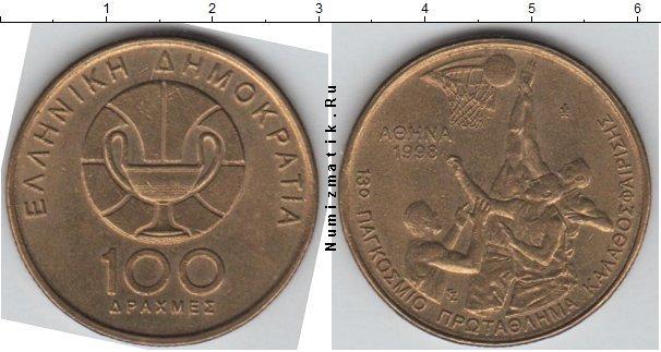 Каталог монет - Греция 100 драхм