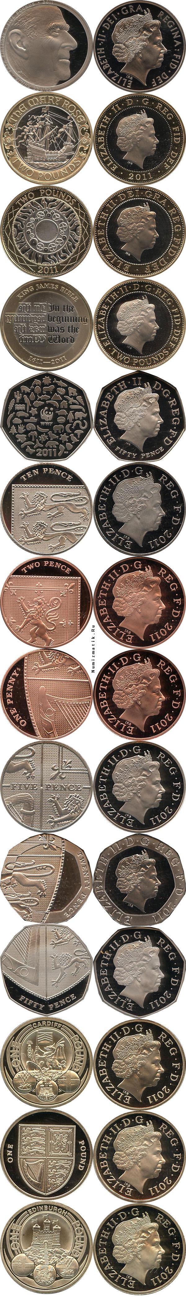 Каталог монет - Великобритания 90- лет со дня рождения Принца Филиппа